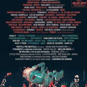 viña rock 2017 cartel - cmon murcia