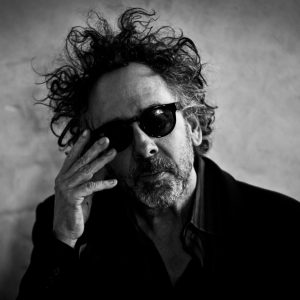 PRAGUE, CZECH REPUBLIC - MARCH 27:  (EDITORS NOTE: Image has been converted to black and white.) Director Tim Burton attends a press conference prior to a press preview of his exhibition 'The World of Tim Burton' on March 27, 2014 in Prague, Czech Republic. The exhibition, which runs until August 3, will feature 500 of Burton's drawings, paintings, photographs, sketchbooks, moving-image works, and sculptural installations.  (Photo by Matej Divizna/Getty Images)