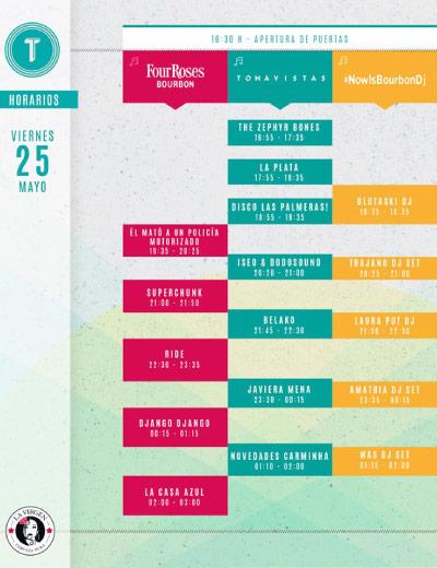 Tomavistas Festival anuncia sus horarios